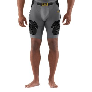 "Fitness Meets NFHS standards.  Pads are waterproof, lightweight, ultra-durable, giving you the right protection, where you need it.  HeatGear(R) Sonic fabric provides extreme comfort and compression without restriction.  4-Way Stretch fabrication allows greater mobility and maintains shape.  Signature Moisture Transport System wicks sweat away from the body.  Anti-Odor technology prevents the growth of odor causing microbes.  Padding is welded for sew-free, distraction-free comfort.  Performance waistband.  Cup pocket.  9"" inseam.  Polyester/Elastane.  Imported. - $42.74"