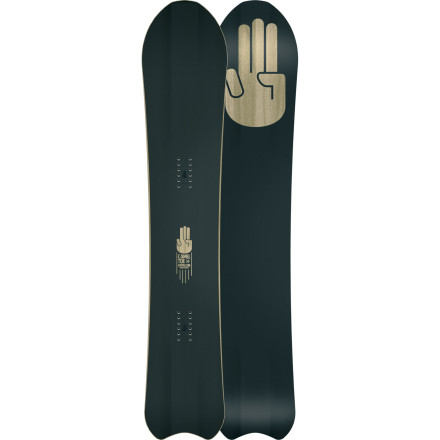 Surf Powder boards have come a long way since the days of 195cm powder guns. Radical new board profiles have turned these seven-foot dinosaurs into quick, maneuverable, boards that are designed to be ridden flat for greater control and less fatigue. The Bataleon Camel Toe Snowboard is one of the most radical designs that we've seen yet. Bataleon's POW Triple Base 3D Technology gives the Camel Toe tons of flotation, so it's short, quick and maneuverable in the deep stuff without blowing out your back leg in just a few runs, like most snowboards. - $239.97