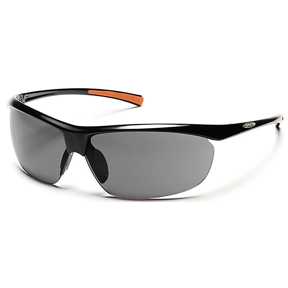 Ski The SunCloud Zephyr Polarized Sunglasses are so light you may forget you are wearing them. They offer you great coverage with a flexible fit and the megol nose and temple pads ensure they will stay secure and comfortable on your face. The polarized lens on the SunCloud Zephyr will give you complete protection for your peepers from the sun's harmful UV rays.  Polarized Injection Polycarbonate Lenses,  8 Base Lens Curvature,  Megol Nose and Temple Pads,  Grilamid Frame Material,  Custom Metal Logo Plaques,  Microfiber Cleaning/Storage Bag,  Lifetime Warranty,  Lens Type: Non-Mirrored, Model Year: 2016, Product ID: 270749, Frame Shape: Rimless / Wrap, Model Number: S-ZEPPGYBK, GTIN: 0715757372965, Warranty: Lifetime, Nose Pads: Yes, Face Size: Medium, Gender: Adult, Additional Lenses: No, Interchangable Lens: No, Photochromatic: No, Polarized: Yes, Frame Material: Grilamid, Lens Material: Polycarbonate, Best Use: Multisport - $50.00