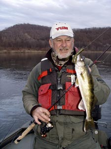 Fishing Tubin' River Walleyes - Tube baits are perfect to catching river walleyes.  Article by Jeff Knapp