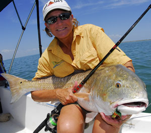Fishing Autumn action on big reds can be fast, furious and non-stop.  Article by Capt. Joe Richard