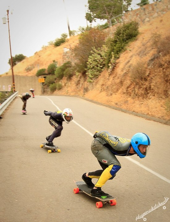 Skateboard Ambassador Trevor care-Baird stares ahead at the corner apex at the Catalina Island Classic. Adam Stokowski photo.