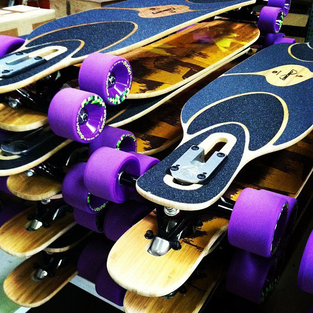 Skateboard Dervish Samas awaiting departure to loving homes. #loadedboards