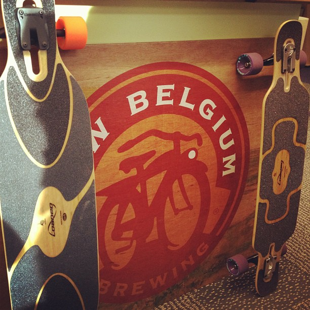 Skateboard Follow your folly. Ours is skateboarding - what's yours? #newbelgium #loadedboards #orangatangwheels http://instagr.am/p/TJuXzZIxqP/