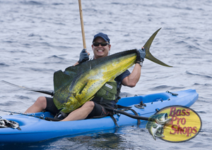 Fishing Kayak Fishing for Big Game.  Article written by a pro... ''Bluewater'' Jon Schwartz