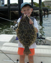 Fishing Targeting Summer Flounder.  Article written by Ron Brooks