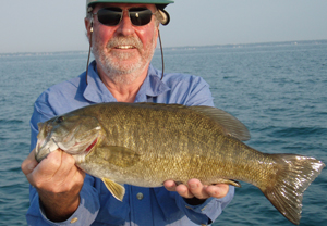 Flyfishing The Bronze Age - Smallmouth fly fishing on Lake St. Clair has never been better.  Article by Wayne E. Snyder