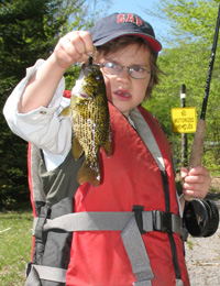 Flyfishing Panfish on the Fly.  Article written by Steve Galea