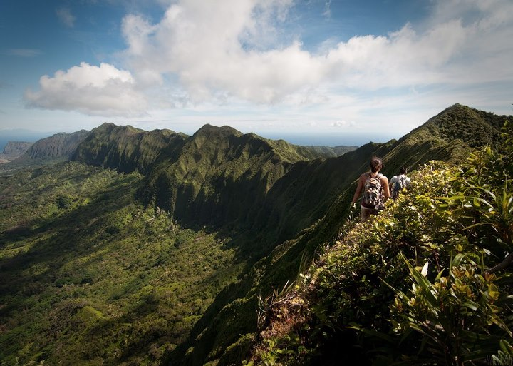Camp and Hike What's the most extreme hike you've been on? (Koolau Summit Trail from the Pali Lookout to Manoa. East Oahu, Hawaii - Photo by Unreal Hawaii)