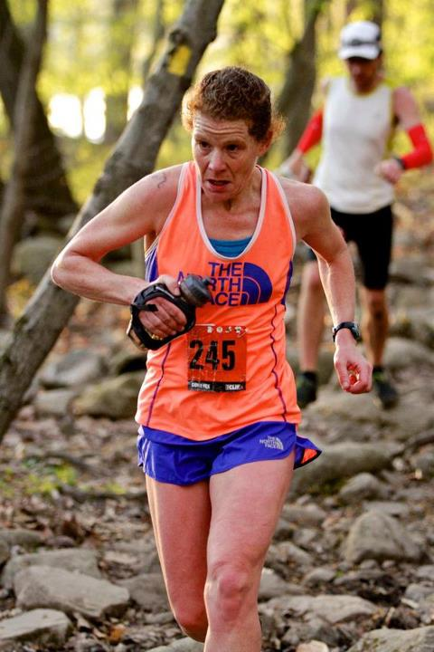Fitness Team ultrarunner Nikki Kimball in the GORE-TEX 50-miler. The North Face Endurance Challenge - New York, 2013.  Find more @ http://bit.ly/YFxGFB