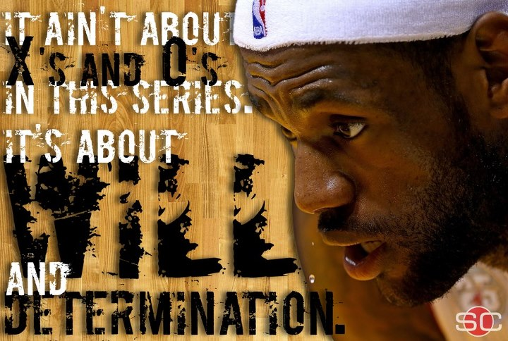 Sports LIKE & SHARE if you think LeBron can WILL the Heat to a Game 2 victory.