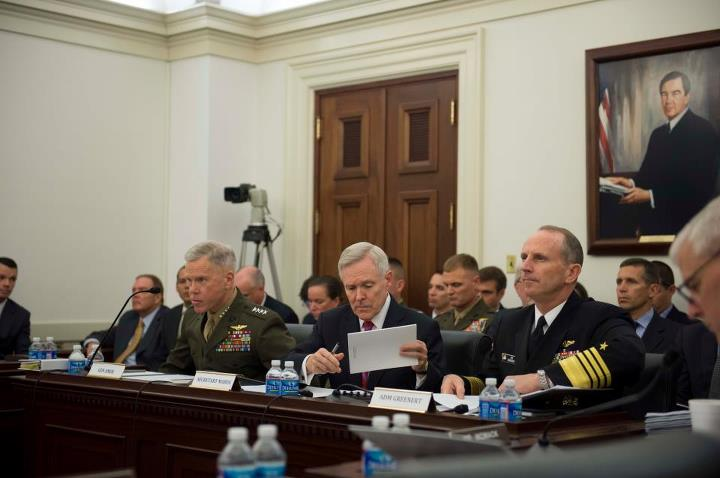 Guns and Military Secretary of the Navy Ray Mabus and Chief of Naval Operations Admiral Jonathan Greenert updated Congress Tuesday about fleet ship force levels and sequestration. Read what was said on Capitol Hill: http://ow.ly/kORh7