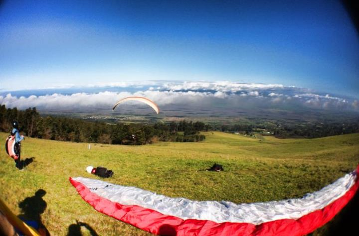 Extreme We just went paragliding in Kula, Maui this morning and had a brilliant time soaring through the skies!