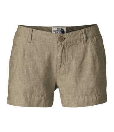"Lightweight, yet durable, shorts that you'll love wearing during outdoor springtime activities. Triple-stitched inseam and side-panel construction improves the durability of these pinstripe cotton linen 3"" inseam shorts. Trimmed side-slash pockets and back flap pockets offer additional utility. Finished with coconut-shell buttons for a rustic touch. - $160.00"