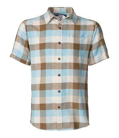 Shift out of high gear and kick back in our lightweight plaid short-sleeve shirt. Breathable linen and slub cotton blend is comfortable and low maintenance. - $27.50