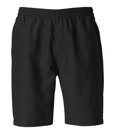The QuickDry treatment on these lightweight polyester shorts discourages water absorption, enabling you to roam from the river to the trail with ease. The elastic waistband is designed with a built-in belt for a secure fit that won't ride down. These 10 inseam trunks are constructed with a crotch gusset and relaxed fit that's cut wider in the thigh for improved freedom of movement. Cargo pocket securely fastens with a zip closure with a key loop. Finished with a water-friendly mesh liner for next-to-skin comfort. TNF Black Water Trunk. - $17.50