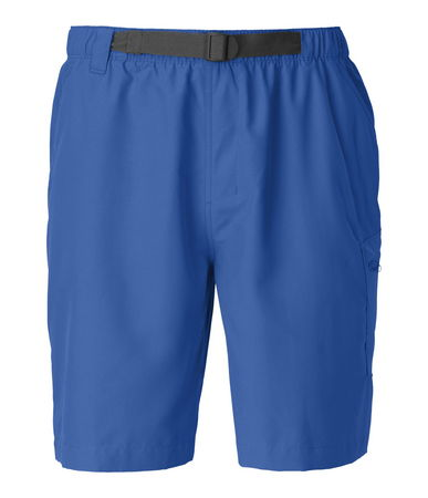 The QuickDry treatment on these lightweight polyester shorts discourages water absorption, enabling you to roam from the river to the trail with ease. The elastic waistband is designed with a built-in belt for a secure fit that won't ride down. These 10 inseam trunks are constructed with a crotch gusset and relaxed fit that's cut wider in the thigh for improved freedom of movement. Cargo pocket securely fastens with a zip closure with a key loop. Finished with a water-friendly mesh liner for next-to-skin comfort. - $31.50