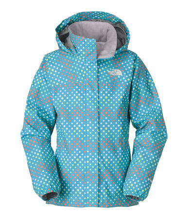 The Dottie Resolve Hoodie jacket is built with a durable  multi-layer waterproofing that's also highly breathable for improved temperature regulation. A mesh lining improves the overall breathability of this seam-sealed rain jacket. The full-length front zipper is protected by a Velcro(R) stormflap to shut out wind and rain. Finished with a brushed collar lining that's soft against the skin when the jacket is fully zipped. Hood stows away in the collar when not in use. - $75.00