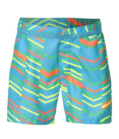 "Camp and Hike The North Face Senessa Water Short!  Stylish 3"" inseam water shorts that she can layer over a one-piece bathing suit for extra coverage, or wear comfortably all day at camp. Printed woven fabric is treated with QuickDry so she won't have to sit in soggy shorts after playing in the water. Comfortable elastic waistband is adjustable. - $35.00"