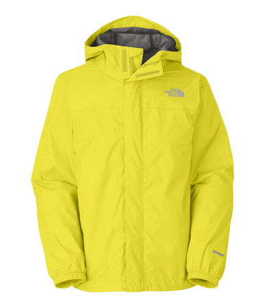 Fitness Windproof, breathable, fully seam seal, mesh-lined body. Brushed collar lining. Fixed hood. Cneter front zip and Velcro stormflap closure.  Elasticized cuffs. Chin guard flap.  The North Face Zipline includes ID label and logo on left chest. - $55.00