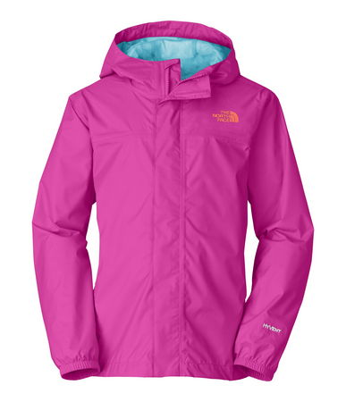 Windproof, breathable, fully seam seal, mesh-lined body. Brushed collar lining. Fixed hood. Cneter front zip and Velcro stormflap closure.  Elasticized cuffs. Chin guard flap.  The North Face includes ID label and logo on left chest. - $55.00