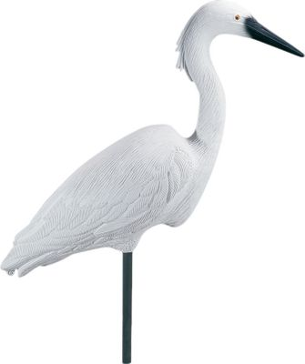 Hunting Blue heron and egrets are among the wariest species in North America. By placing one or two Flambeau Confidence Decoys about 75 to 100 yards away from waterfowl decoys, you can create the image of complete safety for passing flights. These full-body decoys measure approximately 28 from head to tail. Per each. Available: Blue Heron, Egret. Color: Blue. - $29.88