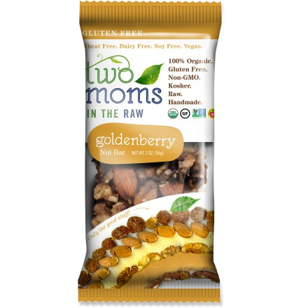 Camp and Hike The handmade, 100% organic Two Moms in the Raw nut bars combine nuts, fruits and spices for a delicious flavor that's a real treat after a workout or during a long day on the job. - $1.93