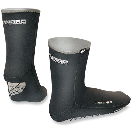 Kayak and Canoe Don't let cold, wet conditions keep you from paddling, kayaking or wading the shoreline. Keep your toes feeling toasty in the thin, light Camaro Titanium waterproof socks. - $29.73