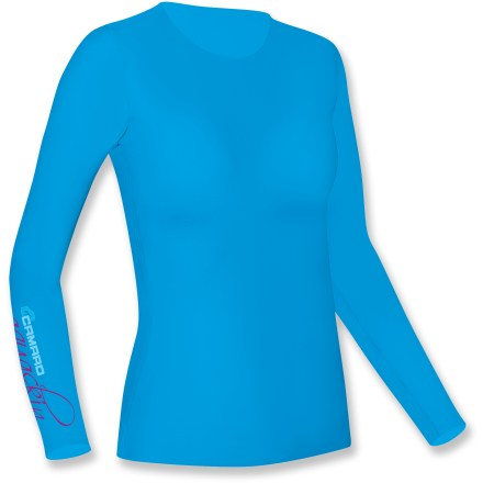 Surf Made for active fun in the water, the Camaro Aqua Skin Active rashguard offers great-looking, formfitting protection from the sun, sand and surf. Polyamide/elastane blend fabric offers UPF 50+ protection, and dries quickly once you're back on the beach. Flatlock seams for non-chafing comfort. Closeout. - $31.73