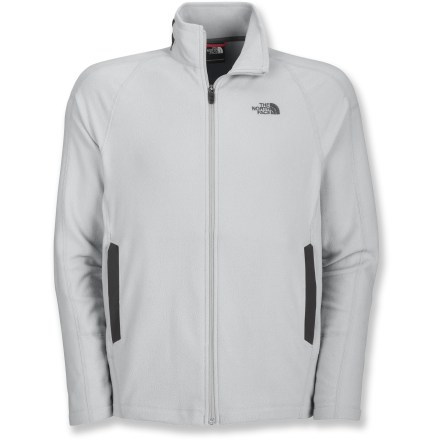 Camp and Hike The quick-drying RDT 100 Full-Zip fleece jacket from The North Face is ideal for active adventures on the trail. Lightweight polyester fleece jacket dries amazingly fast thanks to FlashDry(TM) technology. FlashDry fabrics feature a microporous particle additive that accelerates wicking and drying. Cinch the hem around your waist to keep warm air in. The North Face RDT 100 Full-Zip fleece jacket includes abrasion-resistant paneling at the hand pockets and back neck. - $49.93