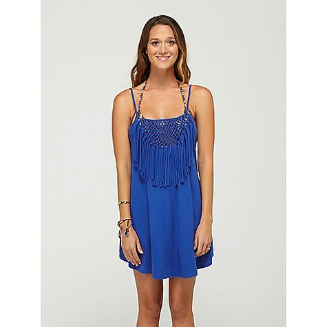 Surf On Sale. Roxy Women's Naturally Beautiful Radiate Love Dress DECENT FEATURES of Roxy Women's Naturally Beautiful Radiate Love Dress Detailed it with macrame and fringe at the chest Very soft Lightweight Slightly flowing fit The SPECS 34-inch length 60% cotton/40% polyester Machine wash - $31.99