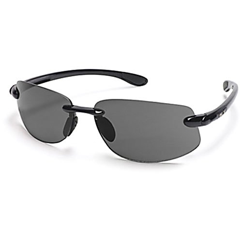 Ski Feast your eyes on these large fit sunglasses by SunCloud. The Excursion polarized sunglasses are ideal for the adventurous type who need eye wear and like to roll out in style. These SunCloud adult sunglasses are lightweight with a wrap design. These are the perfect multi purpose sunglasses because they can transition through seasons and activities. The Excursion sunglasses are made with a rimless grilamid frame, megol nose pads and temple tips for comfort and security.   Polarized Injection Polycarbonate Lenses,  8 Base Lens Curvature,  Megol Nose and Temple Pads,  Grilamid Frame Material,  Custom Metal Logo Plaques,  Microfiber Cleaning/Storage Bag,  Lifetime Warranty,  Best Use: Streetwear, Lens Material: Polycarbonate, Frame Material: Grilamid, Polarized: Yes, Photochromatic: No, Interchangable Lens: No, Additional Lenses: No, Gender: Adult, Face Size: Large, Nose Pads: Yes, Warranty: Lifetime, GTIN: 0715757289751, Model Number: S-EXPPGYBK, Frame Shape: Rimless, Product ID: 217011, Model Year: 2015, Lens Type: Polarized - $49.99