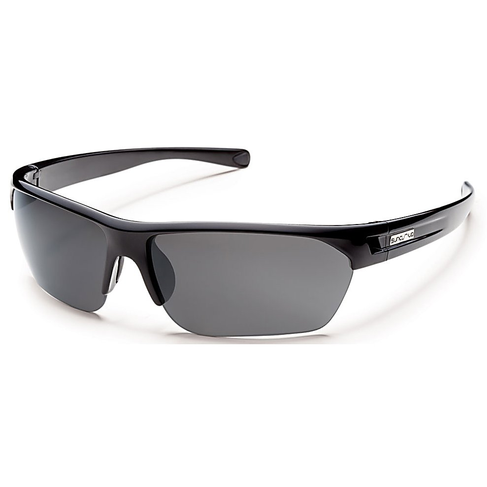 Ski Take a detour to cool town with the SunCloud Detour Polarized Sunglasses. These shades have a mid size wrap with megol nose and temple pads to provide you a secure and comfortable fit. The polarized polycarbonate lenses give you 100 percent UV protection from the sun's harmful UV rays.  Polarized Injection Polycarbonate Lenses,  8 Base Lens Curvature,  Megol Nose and Temple Pads,  TR90 Grilamid Frame Material,  Custom Metal Logo Plaques,  100% UV Protection,  Microfiber Cleaning / Storage Bag,  Lifetime Warranty,  GTIN: 0715757399498, Model Number: S-DTPPGYBK, Frame Shape: Rimless / Wrap, Product ID: 270733, Model Year: 2015, Lens Type: Polarized, Warranty: Lifetime, Nose Pads: Yes, Face Size: Medium, Gender: Adult, Additional Lenses: No, Interchangable Lens: No, Photochromatic: No, Polarized: Yes, Frame Material: Grilamid, Lens Material: Polycarbonate, Best Use: Multisport - $50.00