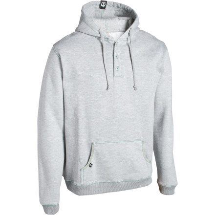 We can't even begin to imagine the hallucinogenic adventures you'll have within the folds of your Gnarly Hobbit Hooded Henley. With a name like that, you're bound to battle a few trolls and unicorns. Good thing the Hobbit Hooded Henley is club-proof. - $26.98