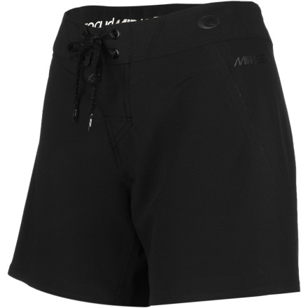 Surf Whether you're prepping for an epic raft or surf trip, look to the Rip Curl Women's Mirage 5in Solid Board Short for incredible comfort and a clean look. Designed with stitchless seams and Xtra Life Lycra fabric, the Mirage looks good after a season of use and provides a great long-lasting fit. - $59.45