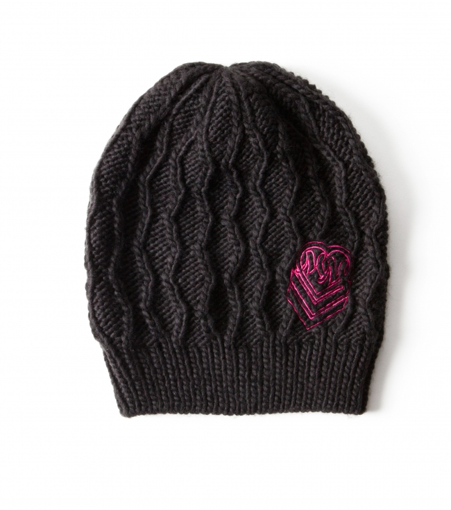 Motorsports Metal Mulisha Maidens Frenzied beanie.  Black honeycomb knit beanie with logo embroidery and custom woven clip label. - $12.99