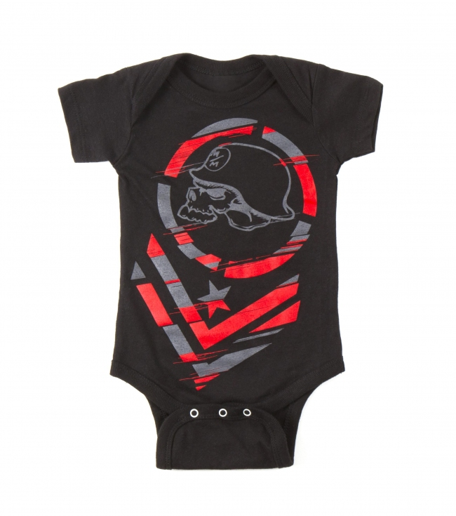 Motorsports Metal Mulisha Toddlers onesie.  100% Cotton infant onesie; screen print on front chest. - $12.99