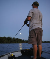 Fishing Flipping Jigs Under the Full Moon.  Article written by Justin Hoffman
