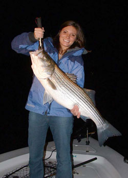 Fishing Planer Board Stripers - So much for angling as a gentle persuasion -- this is industrial-strength fishing!  Article by Don Wirth