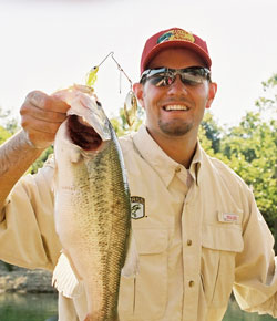 Fishing Catching Summer Bass in the Shallows.  Article written by Don Wirth