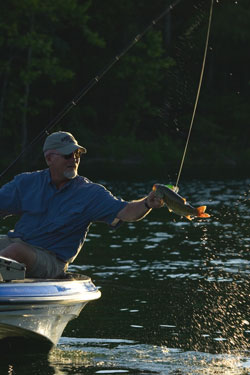 Fishing Late Spring Bass Fishing.  Article written by Don Wirth