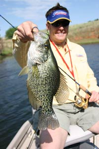 Fishing Three Patterns for Dog Days Crappie. Article written by Wade Bourne