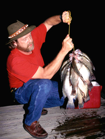 Fishing Crappie After Dark - When summer temperatures soar, crappie feed more actively at night.  Article by Keith Sutton