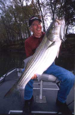 Fishing Catch Tackle-Bustin' Stripers.  Article written by Don Wirth