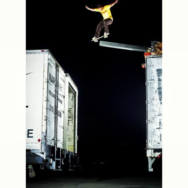 "Skateboard Happy Throwback Thursday!  Anyone remember this krooked grind to gap Daewon Song nailed in the Almost skateboards video ""Round 3""?  