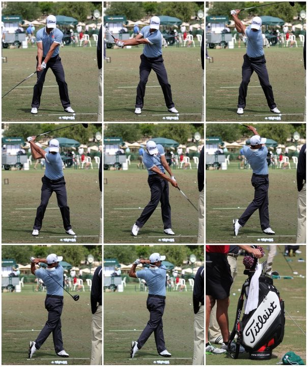 Golf Team Titleist was on the range with Adam Scott earlier in the week at The Players as he grooved his swing.