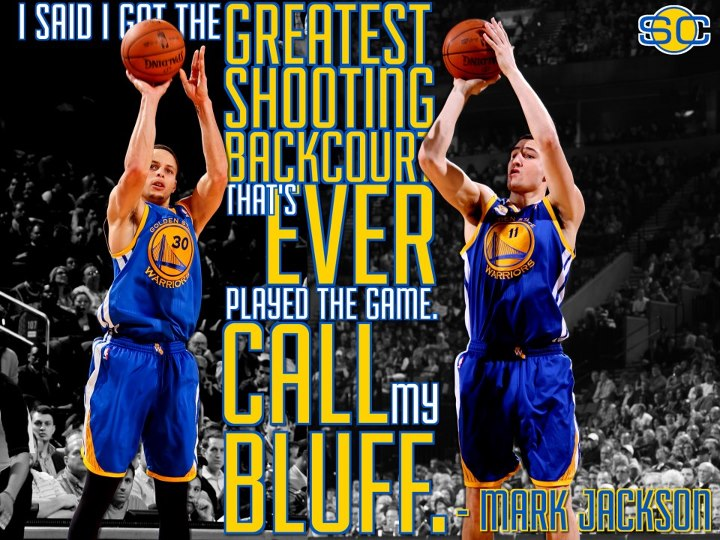 Sports Are Splash Brothers Steph Curry and Klay Thompson the best shooting backcourt in the HISTORY OF THE GAME? Coach Mark Jackson thinks so.  LIKE if you agree, COMMENT with your pick.