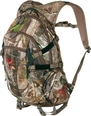 Hunting Ultralightweight and rugged, the Recon Day Pack provides you the needed mobility to chase wary game on the ground or from the trees. Its molded-foam suspension fits the contour of your back for increased comfort when carrying heavy loads. Perforated spine channel increases airflow for improved circulation. Hideaway waistbelt gives you versatility. Horn holders keep your rattling antlers quiet to and from the stand. Coated hanging loop for silence when hanging from a tree step. Hydration-system compatible. Imported. Capacity: 1,900 cu. in. Weight: 3 lbs. 8 oz. Camo pattern: Realtree XTRA. Color: Realtree XTRA. - $119.88