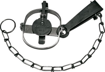 Bridger traps are renowned for their simplistic reliability under harsh trapline conditions, and this #1 single-longspring trap is ideal for mink, muskrat and marten trappers. Twin-loop chain holds fast in any condition and sports a solid end ring with a swivel connection on the spring. Size: #1 longspring (regular jaw). Inside jaw spread: 3-5/8. Outside jaw spread: 3-7/8. - $9.99