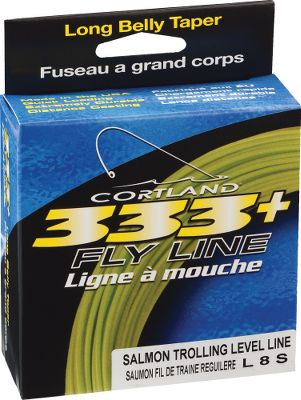 Flyfishing Cortland Line Companys 333+ LS8 Sinking Level Fly Line is a level taper, 8-weight line (220 gr. at 30 ft. from tip). It has a diameter of .037 with a type 6 sink rate, 6.25-7 per second. Designed for trolling, it works well on an 8-weight rod.Length: 150 ft.Color: Dark Brown/Black. Type: Full Sink Freshwater. - $32.95